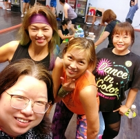 Happy zumba with Tomomi sun back to back zumba fitness