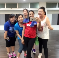 let's zumba tgt with my childhood friends