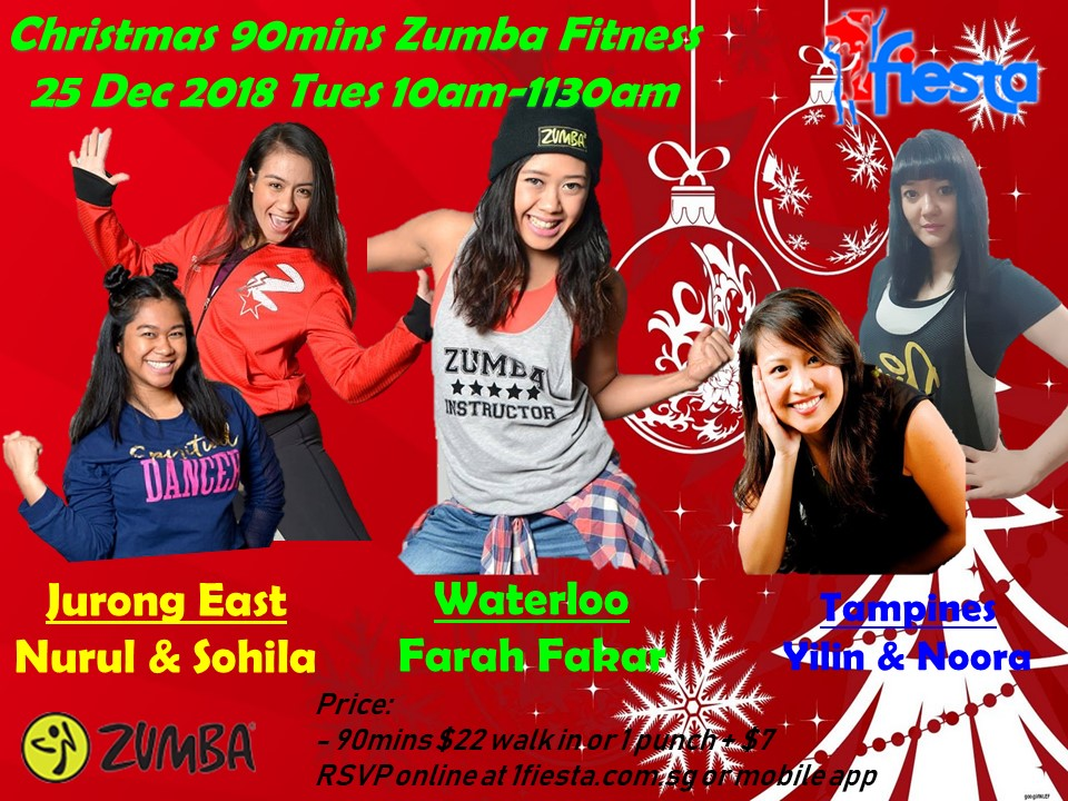 Zumba Christmas Images.Christmas 2018 Special Classes 90mins Crazy Zumba Fitness